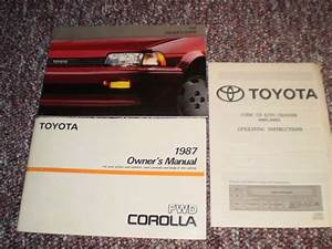 Purchase 1987 Toyota Corolla Car Owners Manual Books Guide