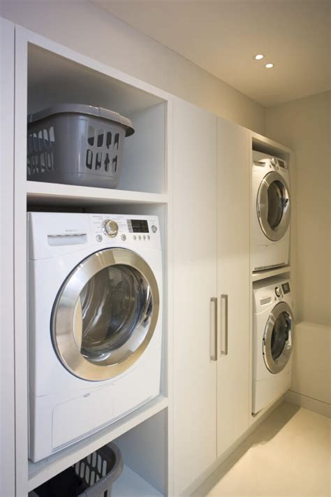 washer and dryer cabinet ideas 20 laundry rooms with stackable washer and dryer photo