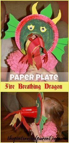 paper plate fire breathing dragon mask  pinterested