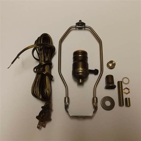 Table Lamp Wiring Kit With Way Socket Harp Anitque