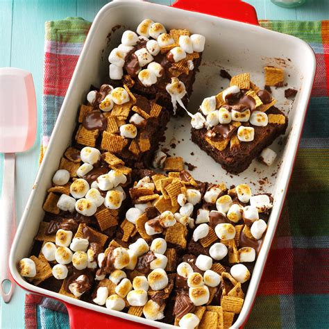 fudgy smores brownies recipe taste  home
