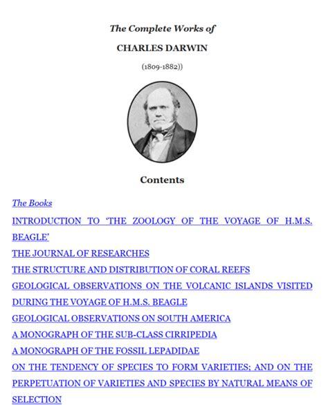 charles darwin homework