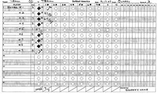 Printable Softball Score Sheets Baseball