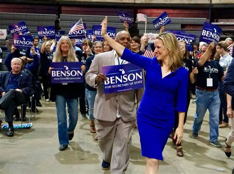 benson jocelyn michigan secretary state offices overhaul plans voter increasing committed turnout says election waits transparency fix branch she republican