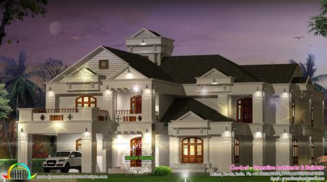 super luxury  bedroom villa kerala home design