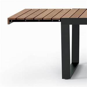 Table Bois Exterieur : table en acier exterieur basse pattes design extensible industriel usagee brosse bois ~ Teatrodelosmanantiales.com Idées de Décoration