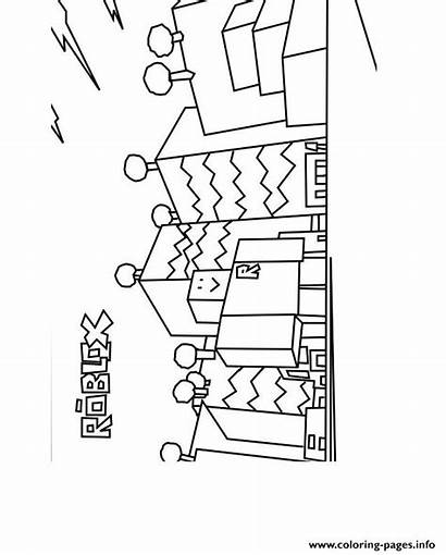 Coloring Pages Printable Roblox Build Sheets Printables