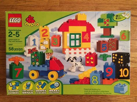 Lego 5497 Duplo Play With Numbers 58 Piece Building Set