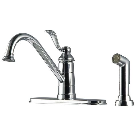 spray kitchen faucet pfister portland 1 handle 3 high arc kitchen faucet