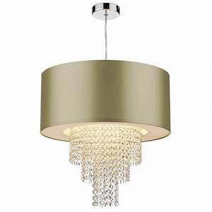 Bhs easy fit ceiling lights : Lopez easy fit non electric gold faux silk ceiling shade