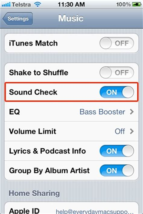 sound check iphone mac ios tip sound check for and iphone mactrast