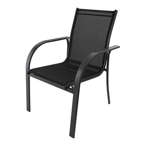 mimosa aluminium mid back sling chair black sku 03191229