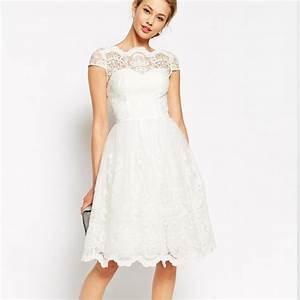 10 robes de mariees courtes pour votre mariage civil With robe dentelle asos