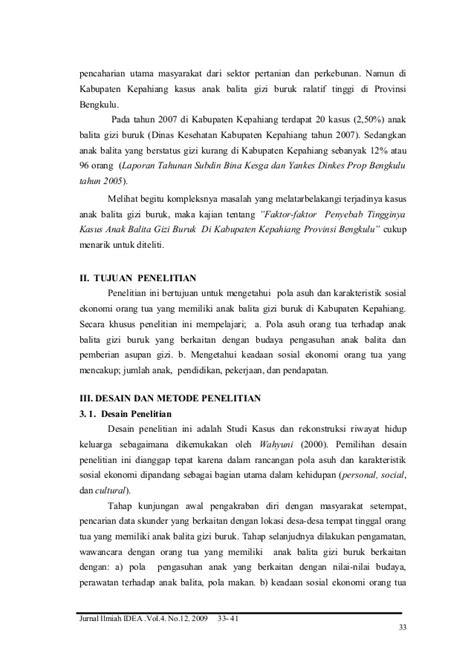Faktor-Faktor Penyebab Tingginya Kasus Anak Balita Gizi