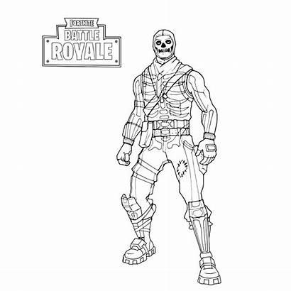 Fortnite Trooper Skull Kleurplaat Skin Dj Kleurplaten