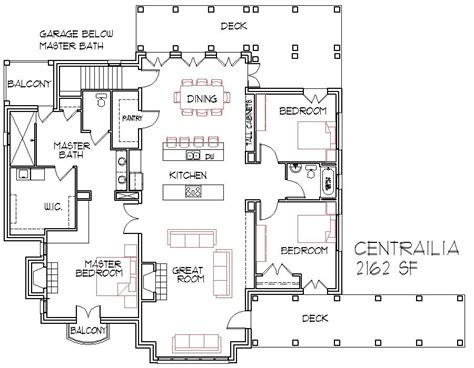 Open Floorplans Large House
