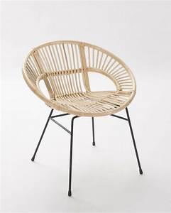 Fauteuil En Rotin : fauteuil rotin pied metal brin d 39 ouest ~ Teatrodelosmanantiales.com Idées de Décoration
