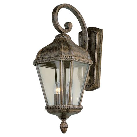 trans globe lighting 2 light outdoor burnished rust wall