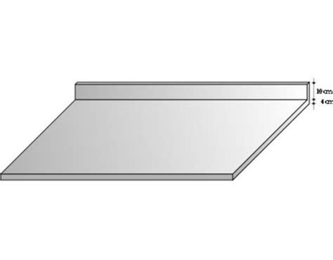 plan de travail cuisine profondeur 80 cm plan de travail inox 10 10ème avec dosseret p 70 cm