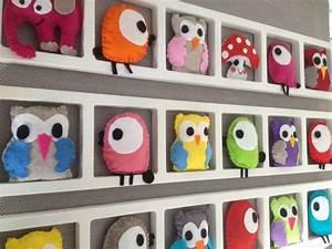 Cadre Deco Bebe : cadre deco chambre enfant et bebe oiseaux hiboux b b ~ Teatrodelosmanantiales.com Idées de Décoration