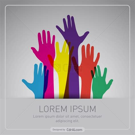 colorful up hands vector free download cdr ai eps cdrai com