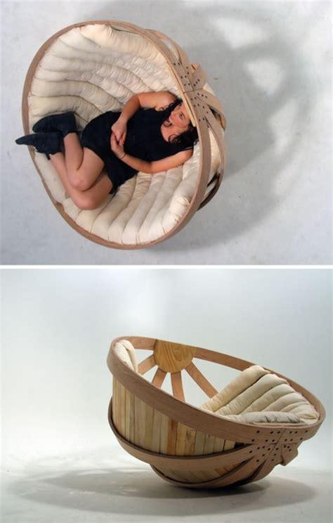 cradle chair big basket seat rocks adults gently to sleep