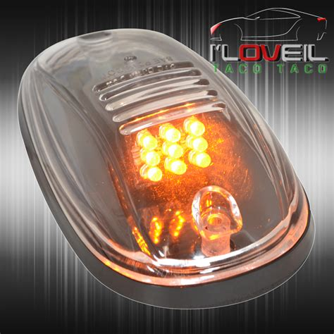 off road running lights 5 clear lens amber led running top marker lights cab roof