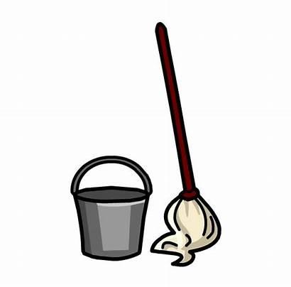 Mop Broom Clipart Clip Bucket Milk Transparent