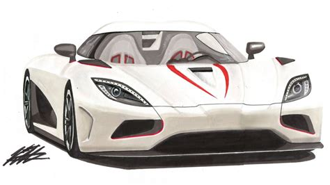 koenigsegg car drawing realistic car drawing koenigsegg agera r time lapse