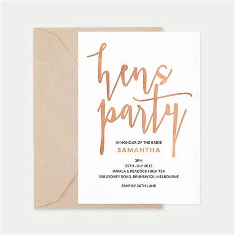 hens party invitation printable hens night