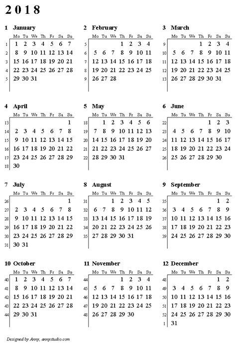 number  weeks   premieredance calendar template