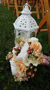 Lanterns, Lining, The, Aisle, Make, A, Beautiful, Entrance, Designed, By, Colonial, Florist, Gordonsville