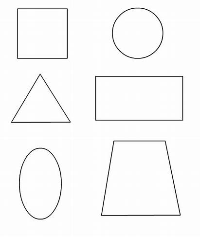Shapes Pages Coloring Shape Basic Square Printable