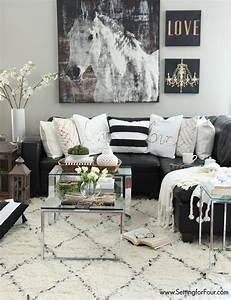 48 black and white living room ideas decoholic With black and white living room decor