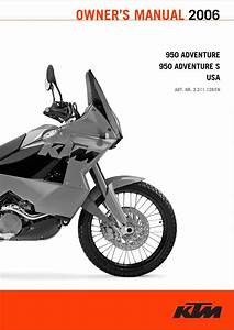 Ktm 950 Adventure S 2006 Owner U2019s Manual