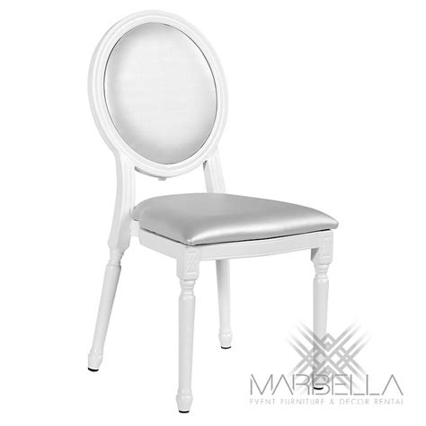 chair silver chateau louis marbella event furniture and