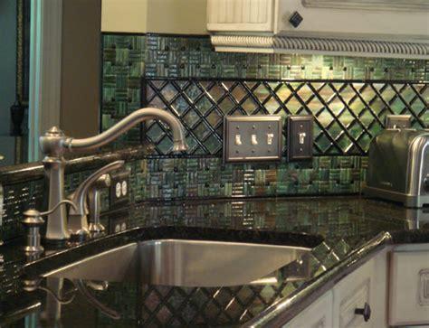 Fused Glass Kitchen Backsplash (Lattice & Parquet