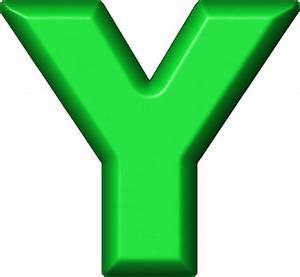 Presentation Alphabets: Green Refrigerator Magnet Y