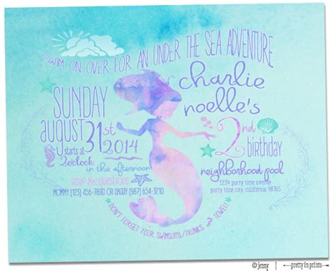 Charlies Mermaid Nd Birthday Party Project Nursery