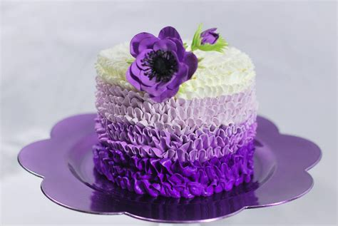 Purple Cake Decorating Ideas - you to see purple buttercream cake by redhead1946