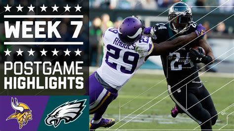 vikings  eagles nfl week  game highlights youtube