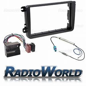 Vw Golf Mk5 Mkv Double Din Stereo Fitting Kit Facia  Wiring  Adaptor Fascia Panel