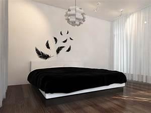 Schwarz Auf Weiß Lied : dekorieren in schwarz und wei ideen mit wandtattoos ~ Orissabook.com Haus und Dekorationen