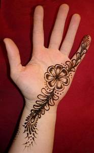 simple cute mehendi design for the left hand, traditional ...
