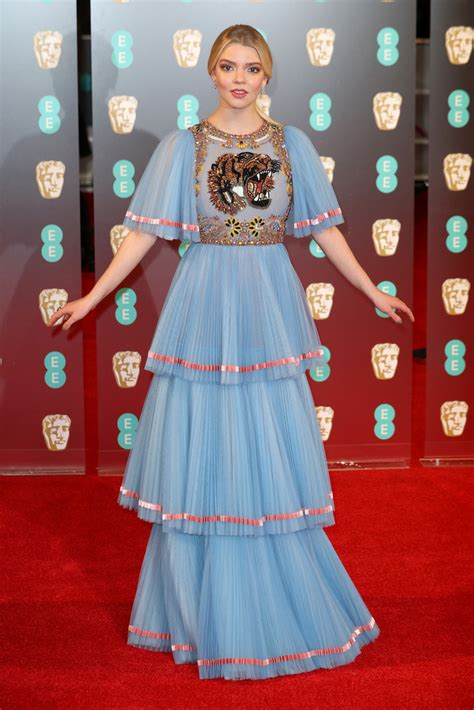 anya taylor joy in gucci best dressed at the 2017 bafta