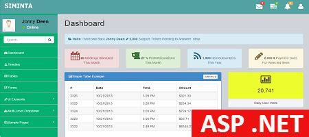 Aspx Net Templates Free Asp Net Admin Template Siminta Mini