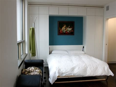 wall bed modern bedroom by