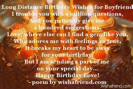 long distance birthday wishes  boyfriend poem    friend beautiful thea