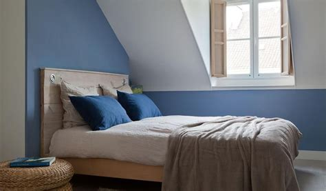 Chambre Bleue Mansardée De Style Scandinave