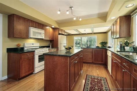 best color with cherry cabinets traditional medium cherry kitchen counters